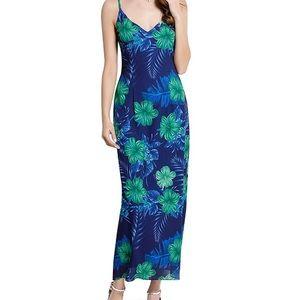 Dresses - Vintage Look Floral Tea Length/Maxi Dress